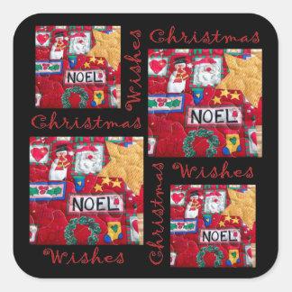 Gewatteerde Kerstmis wenst Sticker