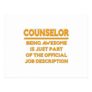 Geweldige Adviseur. De officiële Beschrijving van Briefkaart