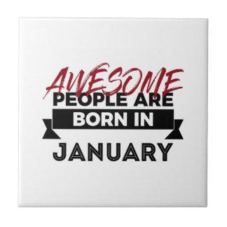 Geweldige Geboren in de Verjaardag van de Babys Keramisch Tegeltje