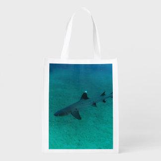 Geweldige Haai in Diep Boodschappentas