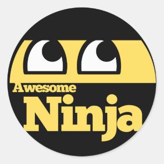Geweldige Ninja Ronde Sticker