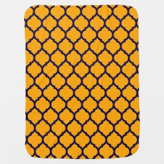 Geweldige Oranje Blauw Marokkaans Patroon Babydoek