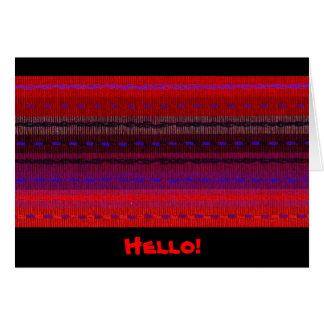 Geweven banden Hello Kaart