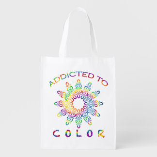 Gewijd aan de Regenboog Mandala van de Kleur voor Boodschappentas