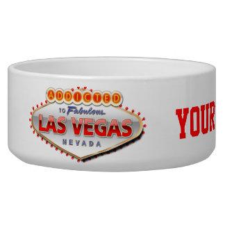 Gewijd het Grappige Teken aan van Las Vegas, Honden Voerbakjes