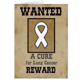 Gewild: Een behandeling voor Longkanker Wenskaart