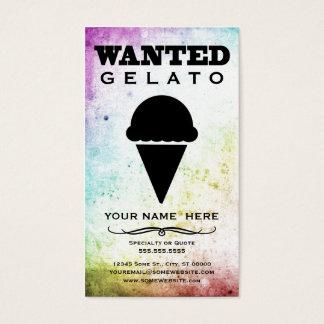 gewild: gelato visitekaartjes
