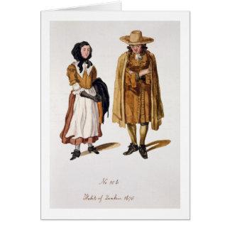 Gewoonten van Quakers, 1675 (gekleurde gravure) Briefkaarten 0