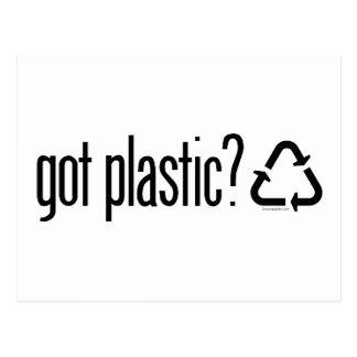 geworden plastic? Het Teken van het recycling Briefkaart