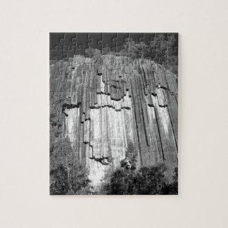 Gezaagde Rotsen in Zwart & Wit Foto Puzzels