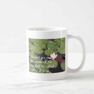 Gezegend worden peacemakers, want zij ...... koffiemok