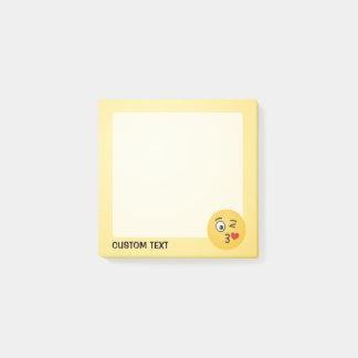 Gezicht die een Kus werpen Post-it® Notes