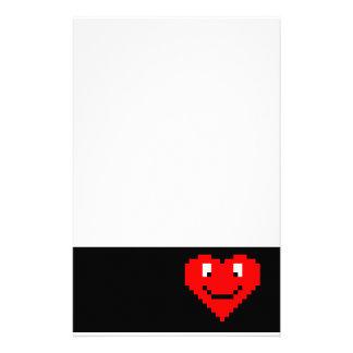 gezicht het met 8 bits van het Hart Briefpapier