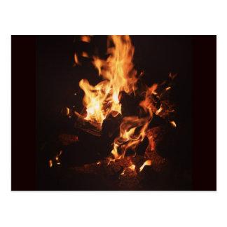 Gezicht in het Briefkaart van Vlammen