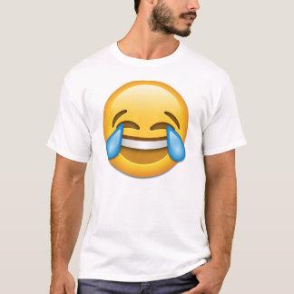 Gezicht met Scheuren van emoji van de Vreugde T Shirt