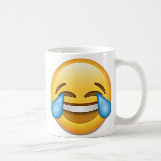Gezicht met Scheuren van het recht van emoji van Koffiemok