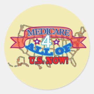 Gezondheidszorg voor bejaarden de 4 elk van V.S. Ronde Sticker