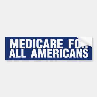 Gezondheidszorg voor bejaarden voor Alle Amerikane Bumpersticker