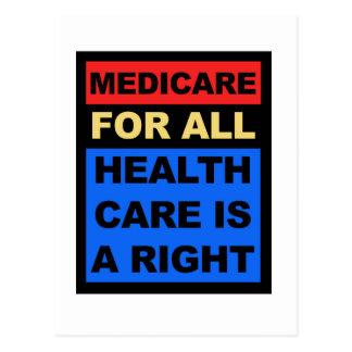 Gezondheidszorg voor bejaarden voor allen - de briefkaart