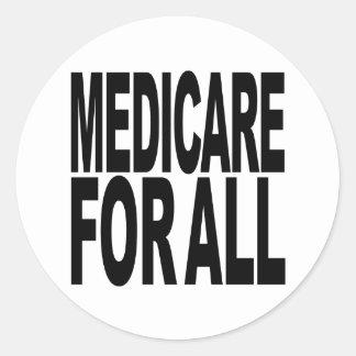 Gezondheidszorg voor bejaarden voor allen ronde sticker