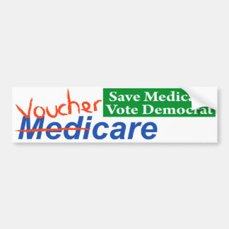 Gezondheidszorg voor bejaarden zal VoucherCare wor Bumpersticker