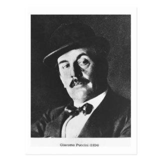 Giacomo Puccini (1858-1924) 1924 (photolitho) (b/w Briefkaart