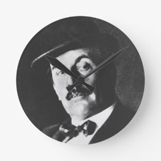 Giacomo Puccini (1858-1924) 1924 (photolitho) (b/w Ronde Klok