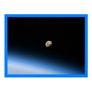 Gibbous Maan van de Blauwe Grens van de Baan Briefkaart