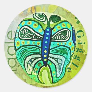 Giecheel Groene fijne de kunst grafische sticker