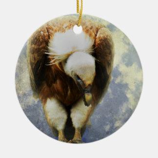 Gier Rond Keramisch Ornament