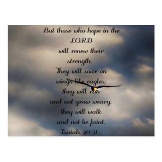 Gift van het Vers van de Bijbel van de Douane van Briefkaart