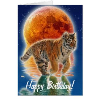 Gift van het Wild van de Kat van de tijger de Briefkaarten 0