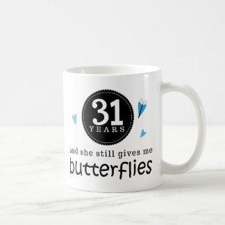 Gift voor de 31ste Vlinder van het Jubileum van Koffiemok