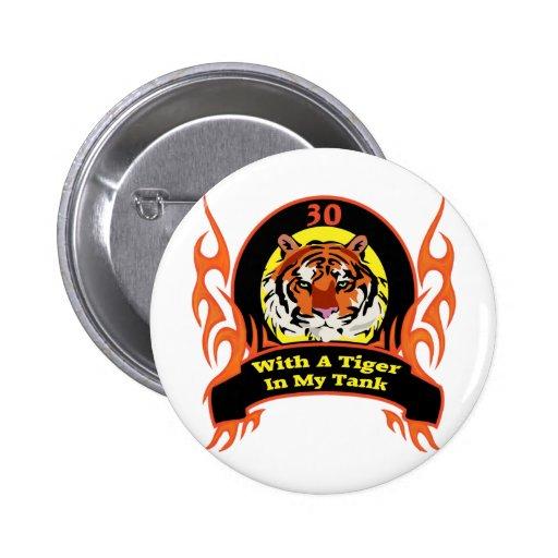 Giften van de Verjaardag van de tijger de 30ste Button