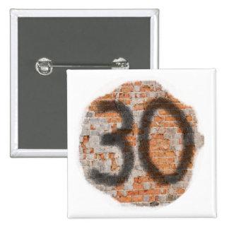 Giften van de Verjaardag van Graffiti de 30ste Vierkante Button 5,1 Cm