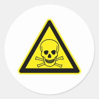 Giftig Teken Ronde Sticker