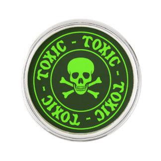 Giftige Groene Schedel en Gekruiste knekels Reverspeldje