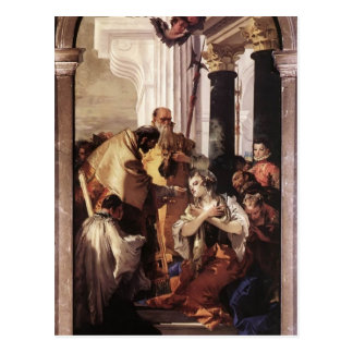Giovanni Tiepolo- Last Communion van St Lucy Briefkaart