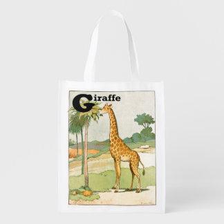 Giraf die Acacia in de Woestijn eten Boodschappentas