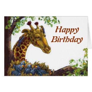 Giraf en de Gelukkige Kaart van de Verjaardag