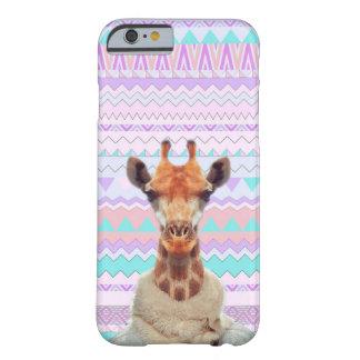 Giraf Grappig met Pastelkleur Stammen Aztec Barely There iPhone 6 Hoesje