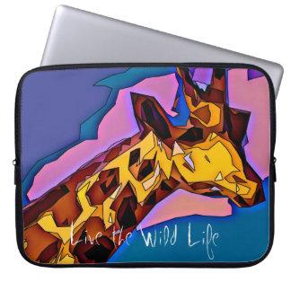 Giraf - leef het Wilde Sleeve van het Leven/Laptop