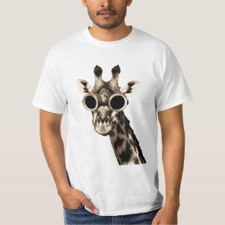 Giraf met de Beschermende brillen van de Zonnebril T Shirt