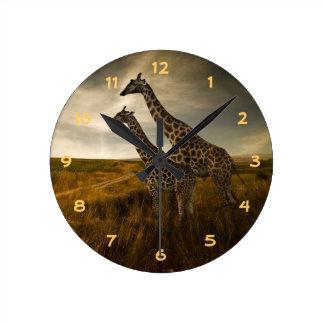 Giraffen en het Landschap Ronde Klok