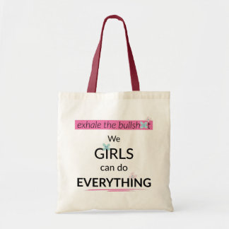 Girls Can Do Everything Canvas tas