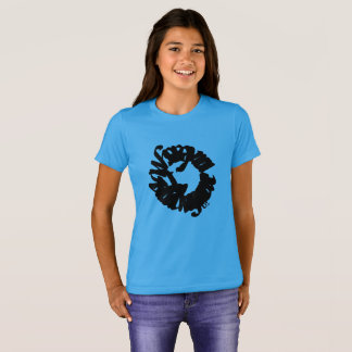 Girls t-shirt, cool, blue, prints, lion t shirt