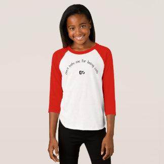 Girls three quarter T-shirt red/black/white