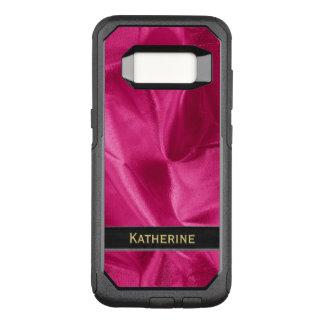 : Girly Faux Fuchsiakleurig Lame Metaal OtterBox Commuter Samsung Galaxy S8 Hoesje