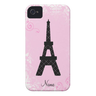 Girly Gepersonaliseerde iPhone 4 van de Toren van iPhone 4 Hoesje