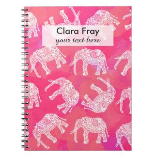 girly roze kleurrijk stammen notitieboek